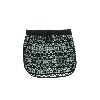 Sanctuary Womens Batik Print Contrast Trim Mini Skirt - S