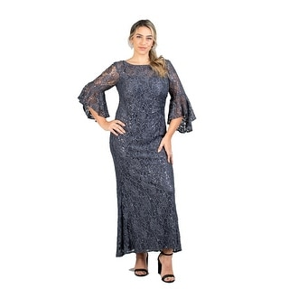 Link to R & M Richards Bell Sleeve Lace Plus Size Dress Similar Items in Dresses