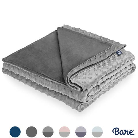 Bare Home Minky Duvet Cover for Weighted Blanket, Removable & Washable