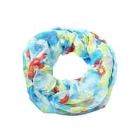 Cejon Women's Multi Floral Infinity Scarf - DENIM - os