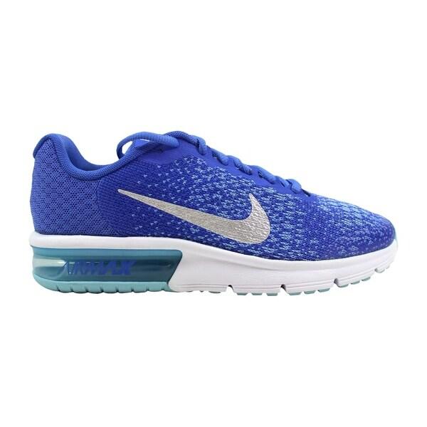 Shop Nike Grade School Air Max Sequent 2 Medium Blue