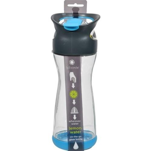 Full Circle Home On the Go Lemon Glass Water Bottle - Blueberry Water Bottles