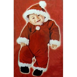 Santa's Little Helper Christmas Baby Costume - Size Large (6-12 Months) - RED