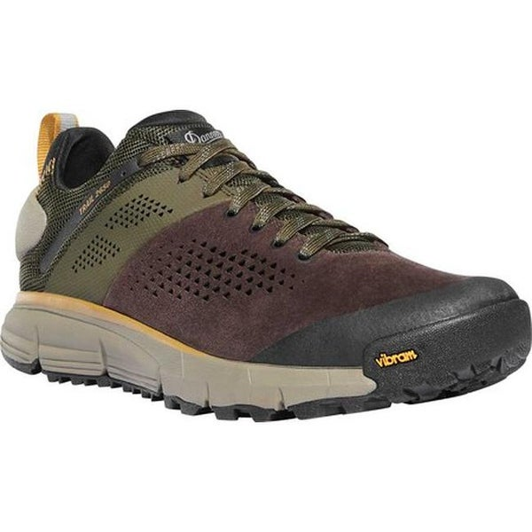 "Danner Men's Trail 2650 3"" Hiking Boot Dark Brown/Green Leather/Textile"