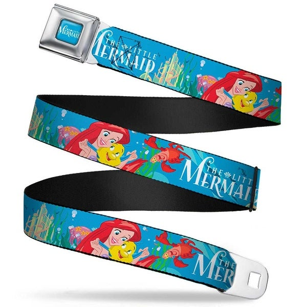 The Little Mermaid Logo Full Color Turquoise White The Little Mermaid Seatbelt Belt