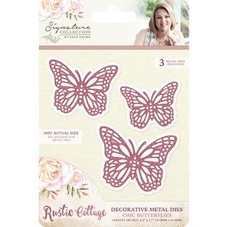 Sara Davies Signature Rustic Cottage Metal Dies-Chic Butterf - chic butterflies