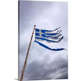 """""""Shredded Greek flag"""" Canvas Wall Art"""