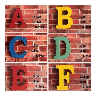 America Vintage Letters Wall Hanging Decoration G