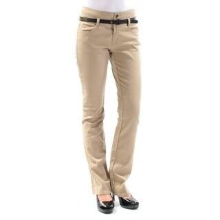 BEBOP Womens New 1378 Beige Belted Straight leg Casual Pants 1 Juniors B+B