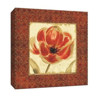 """PTM Images 9-152445  PTM Canvas Collection 12"""" x 12"""" - """"Bazaar III"""" Giclee Flowers Art Print on Canvas"""