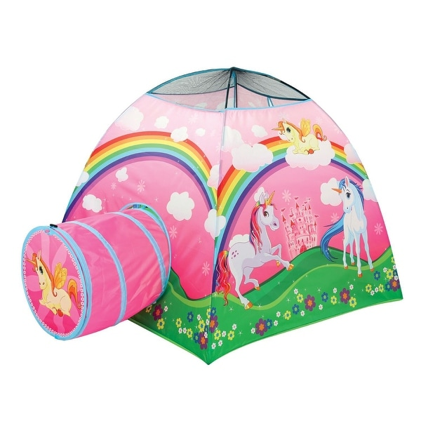 ab629afb8d6e Etna Kids Unicorn Play Tent with Tunnel - Cute Indoor/Outdoor Fantasy Pop-Up