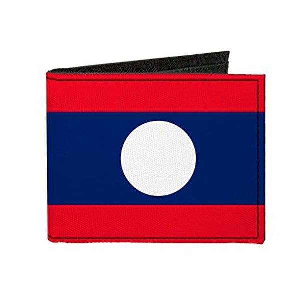 Buckle-Down Canvas Bi-fold Wallet - Lao People's Democratic Republic (la Accessory