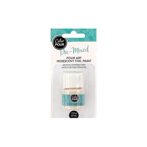 AMC Color Pour Pre Mixed Paint .75oz Iridscnt Foil - White