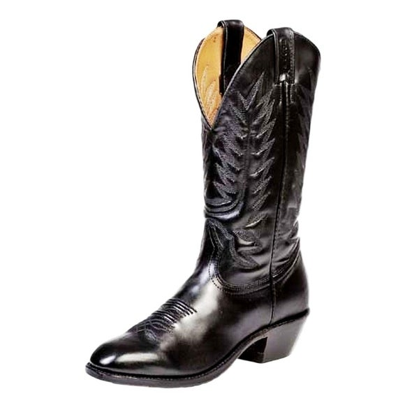 Boulet Western Boots Mens Cowboy Leather Torino Black Calf