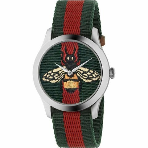 Gucci Bug Series Fabric VC strapped Unisex watch - One Size