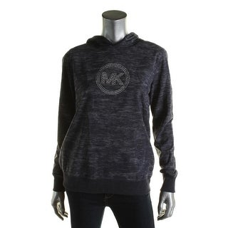 Michael Kors Womens Hoodie Embellished Marled