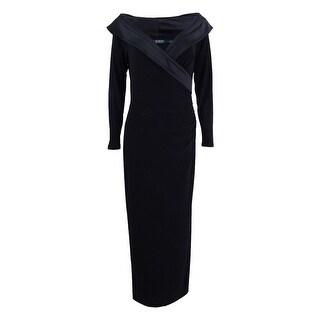 Lauren Ralph Lauren Women's Satin-Trim Jersey Gown