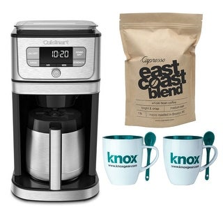 Cuisinart Burr Grind & Brew Thermal 10-CUP Coffeemaker with 2 Mugs and Coffee