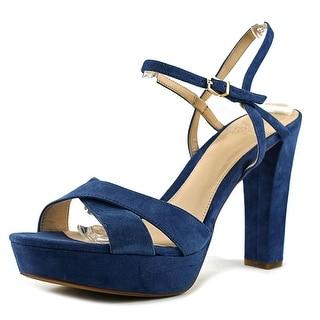 Vince Camuto Shaylin Women  Open Toe Suede Blue Platform Heel