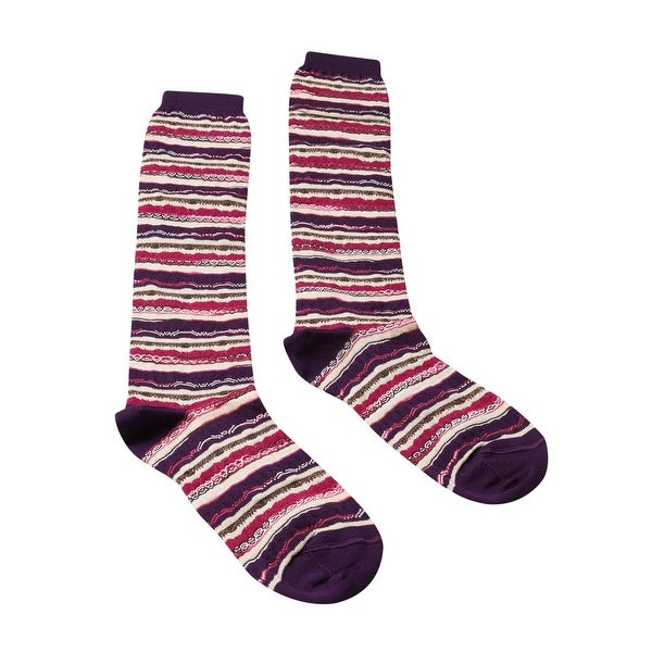 Missoni GM00CMD5221 0002 Purple/Pink Knee Length Socks