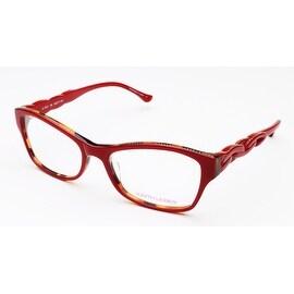 Judith Leiber Intaglio Eyeglasses Red Tortoise