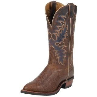 Tony Lama Western Boot Men Americana Conquistador Shoulder Cognac 7950