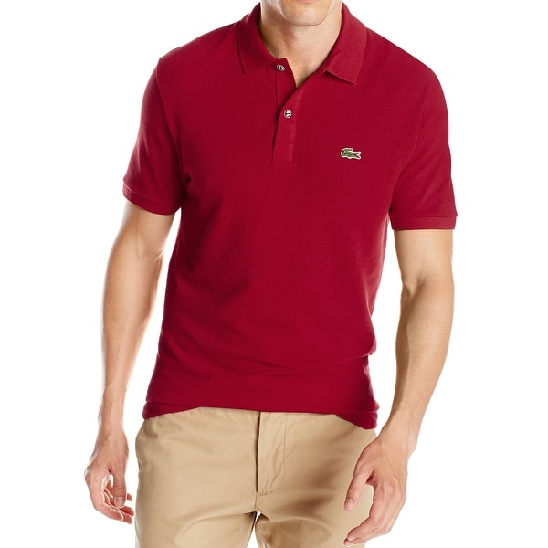 9741e706 Lacoste NEW Bordeaux Red Men Size FR 7 US 2XL Slim Fit Polo Rugby Shirt.  Click to Zoom