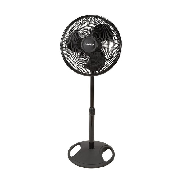 "Lasko 2521 Oscillating Stand Fan, 16"", Black"