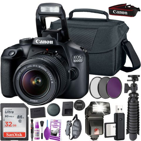 Canon 4000D DSLR Camera with EF-S 18-55mm Lens (International Version)