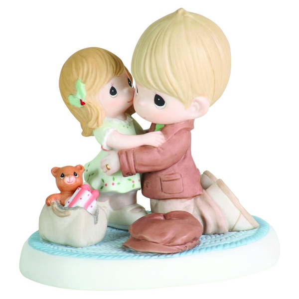 Precious Moments I'll Be Home For Christmas Porcelain Bisque Figurine
