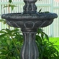 Sunnydaze Two Tier Tulip Solar On Demand Fountain, 36 Inch Tall - Thumbnail 4
