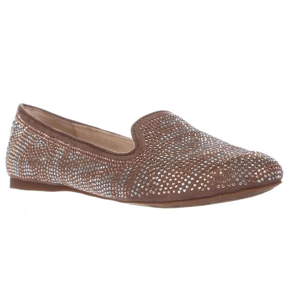 I35 Gradie2 Rhinestone Ballet Flat Loafers, True Taupe - 5.5 us