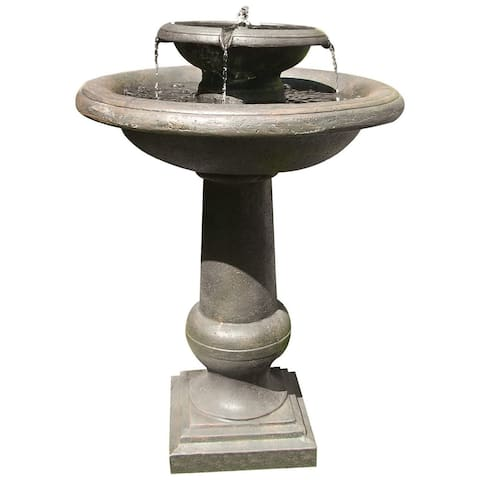 Smart Solar 24260RM1 Oiled Bronze Finish Chatsworth Solar On Demand Fountain