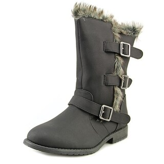 Kenneth Cole Reaction Allie Fur Round Toe Synthetic Winter Boot