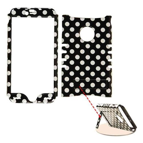 Rocker Series Snap-On Protector Case for Apple iPhone 6 Plus (White Dots on Blac