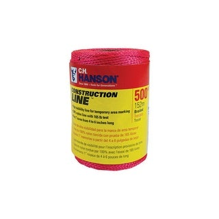 CH Hanson 54200 Reloadable Braided Pink Line Reel Refill, 500'