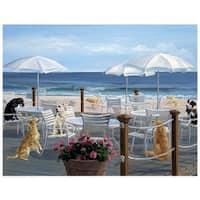 ''Beach Club Tails'' by Carol Saxe Fairfield Art Publishing Art Print (14.5 x 18.5 in.)
