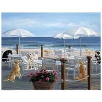 ''Beach Club Tails'' by Carol Saxe Humor Art Print (14.5 x 18.5 in.)