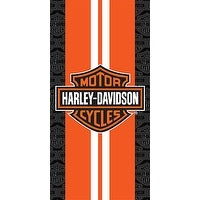 Harley-Davidson Racing Stripes Beach Towel 30 in. X 60 in.