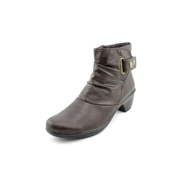 Easy Street Wynne Women Round Toe Synthetic Brown Ankle Boot