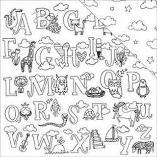 """Cute Alphabet - Hall Pass Adult Coloring Double-Sided Cardstock 12""""X12"""""""