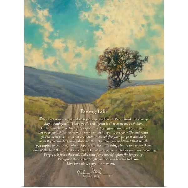 Bonnie Mohr Poster Print Entitled Living Life Multi Color