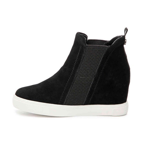 Steve Madden Womens leii Suede Hight Top Pull On Fashion Sneakers
