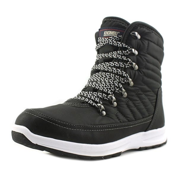 Khombu Alta Spirit Women Round Toe Synthetic Black Snow Boot
