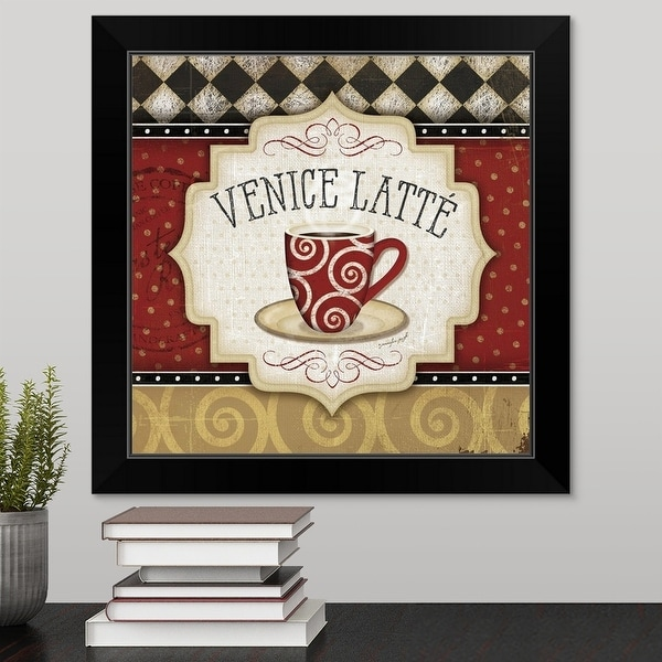 """Venice Latte"" Black Framed Print"