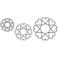 """Quilt Stencils-4"""", 5"""" & 7"""" Blocks 8""""X18"""""""
