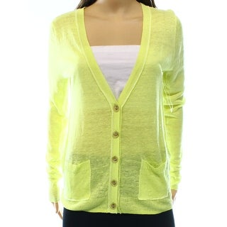 Caslon NEW Green Lime Women's Size Small S Cardigan Pocketed Sweater