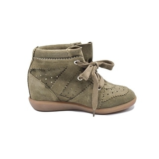 Isabel Marant ÉTOILE Taupe Suede Bobby Wedge Sneakers Size 36 / 6
