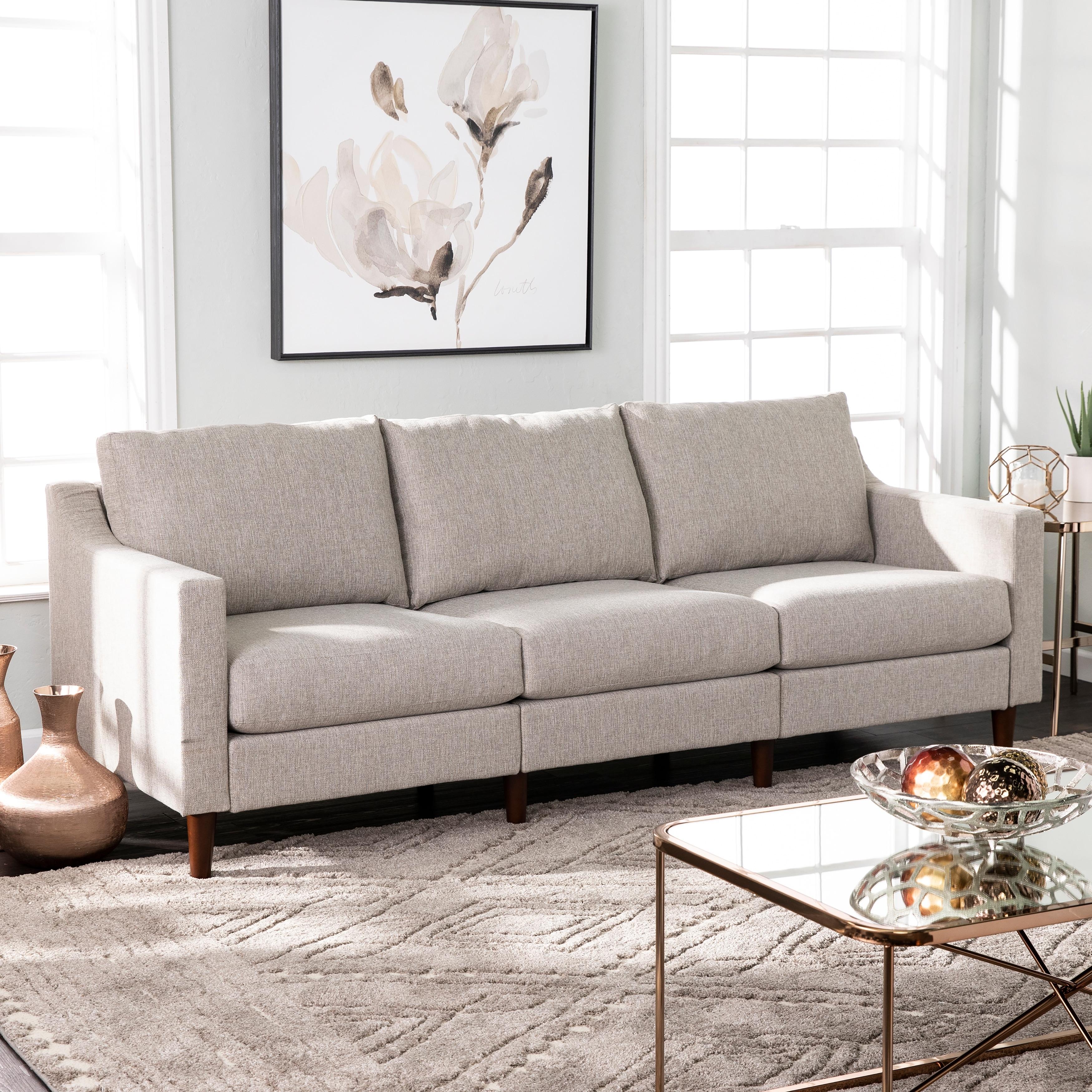 Davis Transitional Fabric Oversized Sofa Overstock 29209187