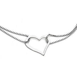 Chisel Stainless Steel Polished Heart with 1.5in ext. Bracelet